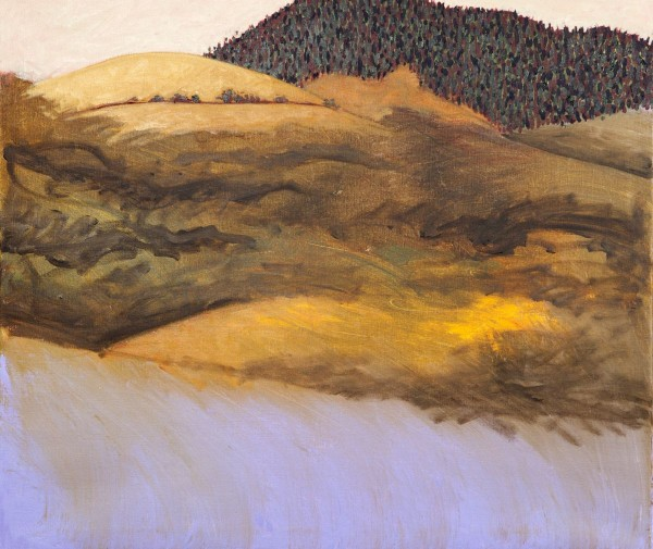 Approaching Mt Franklin. Acrylic on Canvas 2014